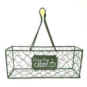 Other - Farmhouse Chicken Wire Caddy Basket w/Handle